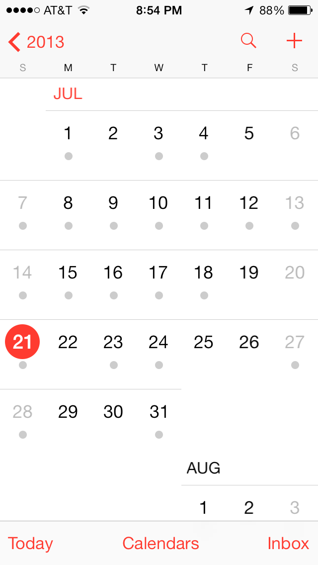 Calendar Apple : Ios calendar apple iphone school