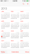 iOS 7 Calendar Year View