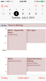 iOS 7 Calendar Day View