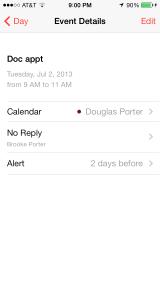 iOS 7 Calendar Event Details