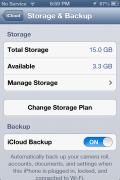 iCloud Storage Settings