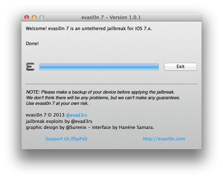 evasi0n7 1.0.1 – Jailbreak for iOS 7 – iPhone 5 & Mac Tutorial