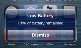 NoLowPowerAlert – Disables Low Battery Alert