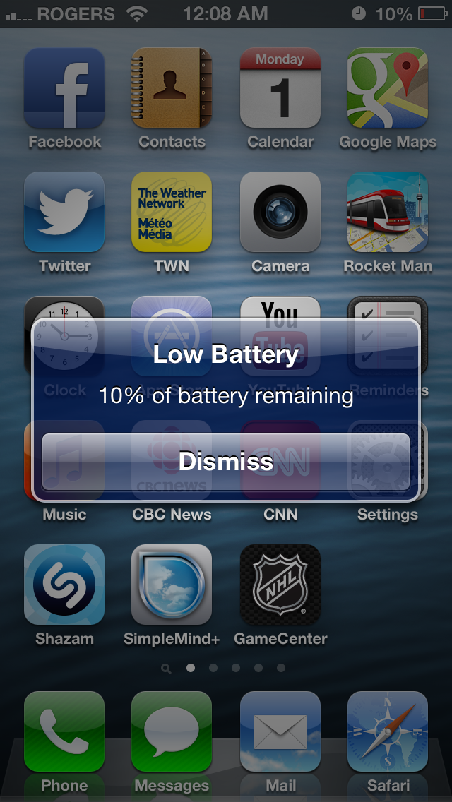 how to change iphone 5 battery percentage
